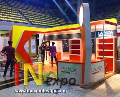 Realisasi Booth LAZADA kontraktor pameran inexpo desain