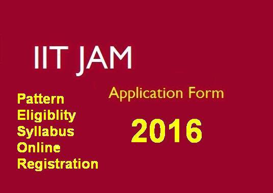 IIT JAM 2016 Examination Help