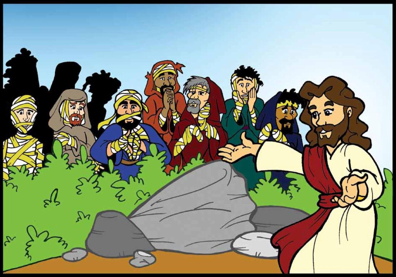 Tia Paula: Jesus cura dez leprosos