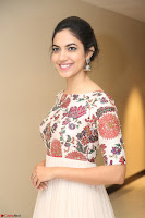 Ritu Varma smiling face Cream Anarkali dress at launch of OPPO New Selfie Camera F3 ~  Exclusive 096.JPG