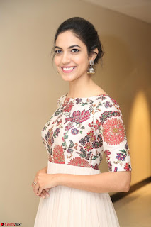 Ritu Varma smiling face Cream Anarkali dress at launch of OPPO New Selfie Camera F3 ~  Exclusive 096.JPG