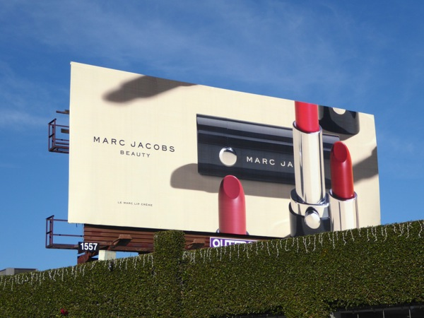 Marc Jacobs Beauty lipstick billboard