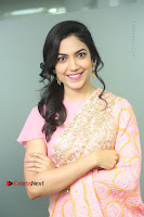 Actress Ritu Varma Pos in Beautiful Pink Anarkali Dress at at Keshava Movie Interview .COM 0091.JPG