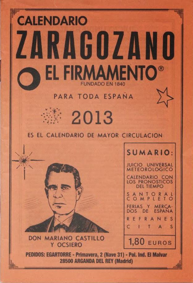 """""""Calendario Zaragozano. El firmamento""""."""