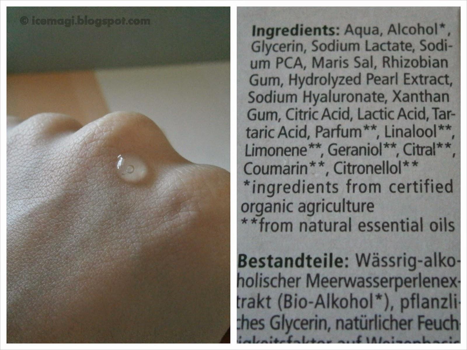 Alverde aqua ingredients