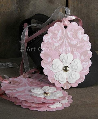 Pretty in Pink Hang Tags Art