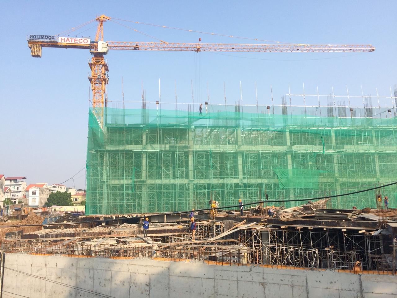 Tiến độ xây dựng thực tế tòa CT1B