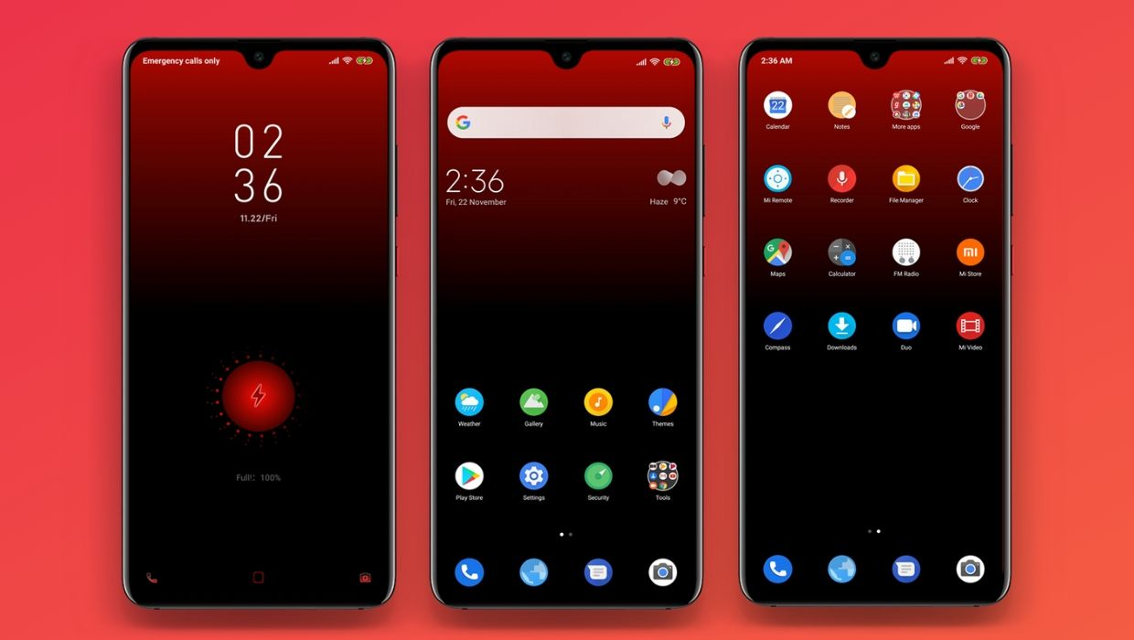 RED OS MIUI 11 Theme