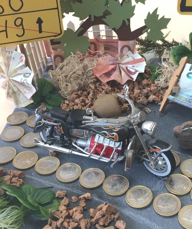 Hobby Kreativ Welt Geldgeschenk Fur Einen Motorradfahrer