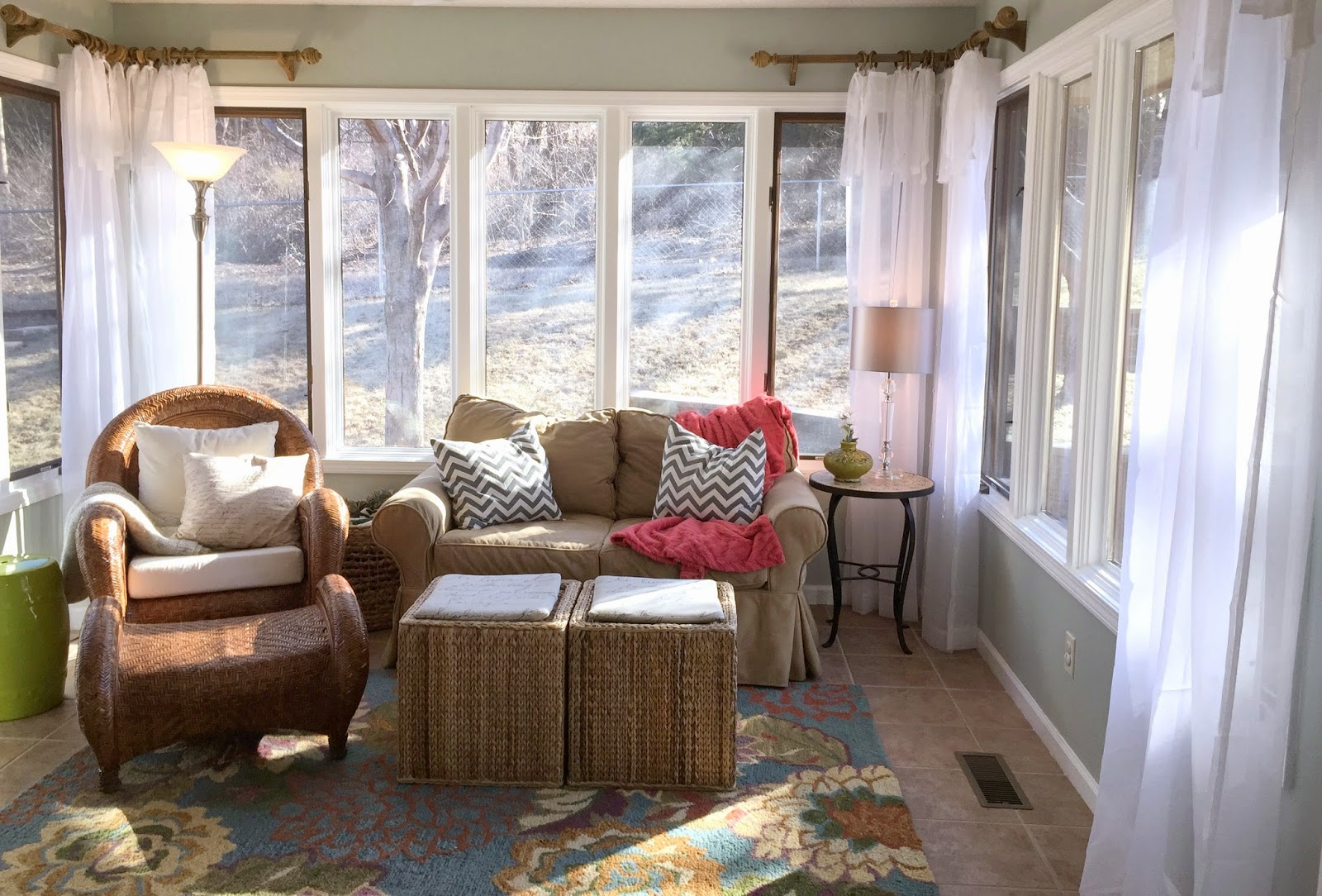 Sunroom Curtain Rods An Easy Eye Catching Diy Project