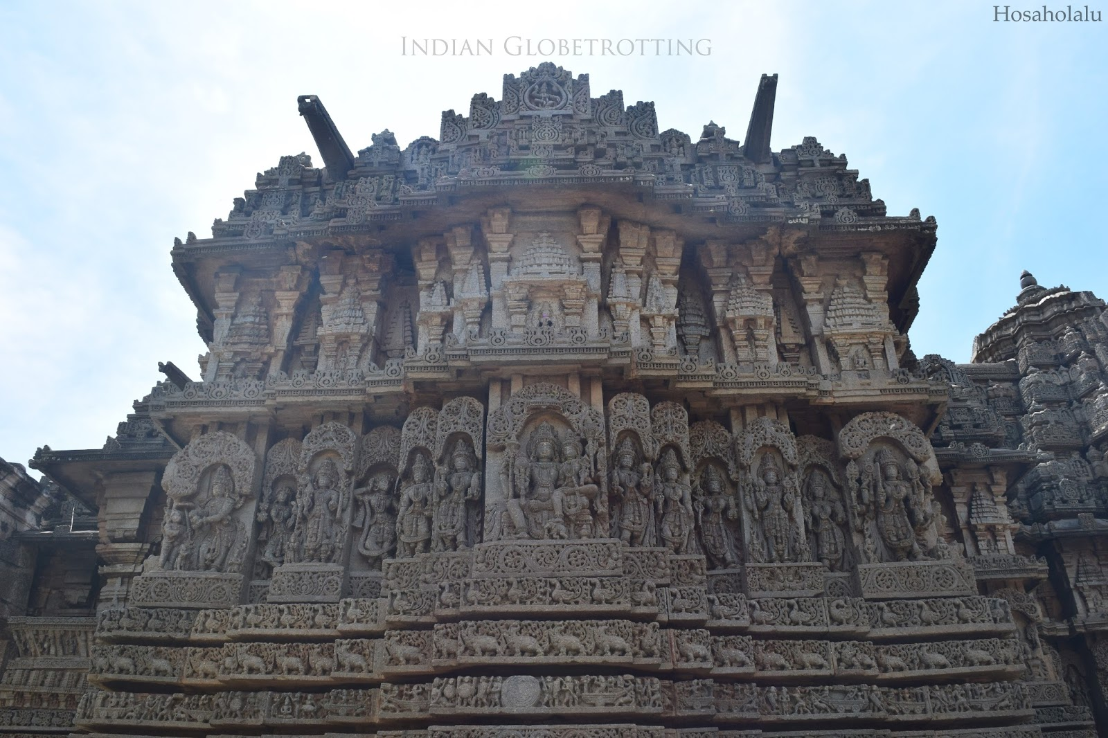 Profile view of Lakshminarayana Temple, Hosaholau Mandya distict Karnataka