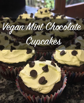 Vegan Mint Chocolate Chip Cupcakes