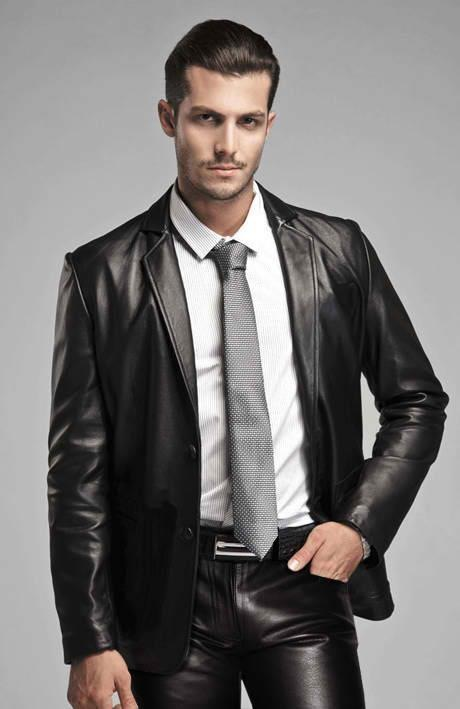 Genuine Leather Blazer: Rich, genuine leather at an amazing price! This luxe leather jacket features a great shaped fit and so many outfitting options. Pair it with career pants, slip it on over a .