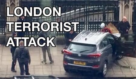 Woman falls off Westminster Bridge during London 'terror attack'