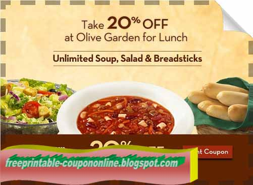 Free olive garden coupons 2019