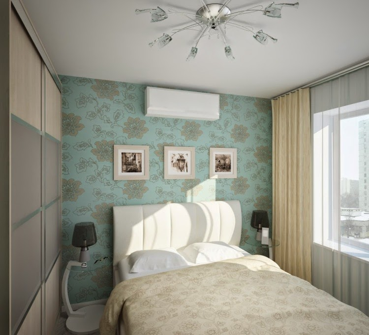 Design Ideas For Small Bedrooms With Wallpaper From Flowers In White Color Modern
