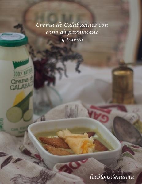 Crema de Calabacines con Cono de parmesano y huevos