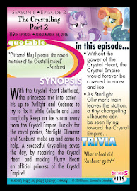 My Little Pony The Crystalling - Part 2 Series 5 Trading Card