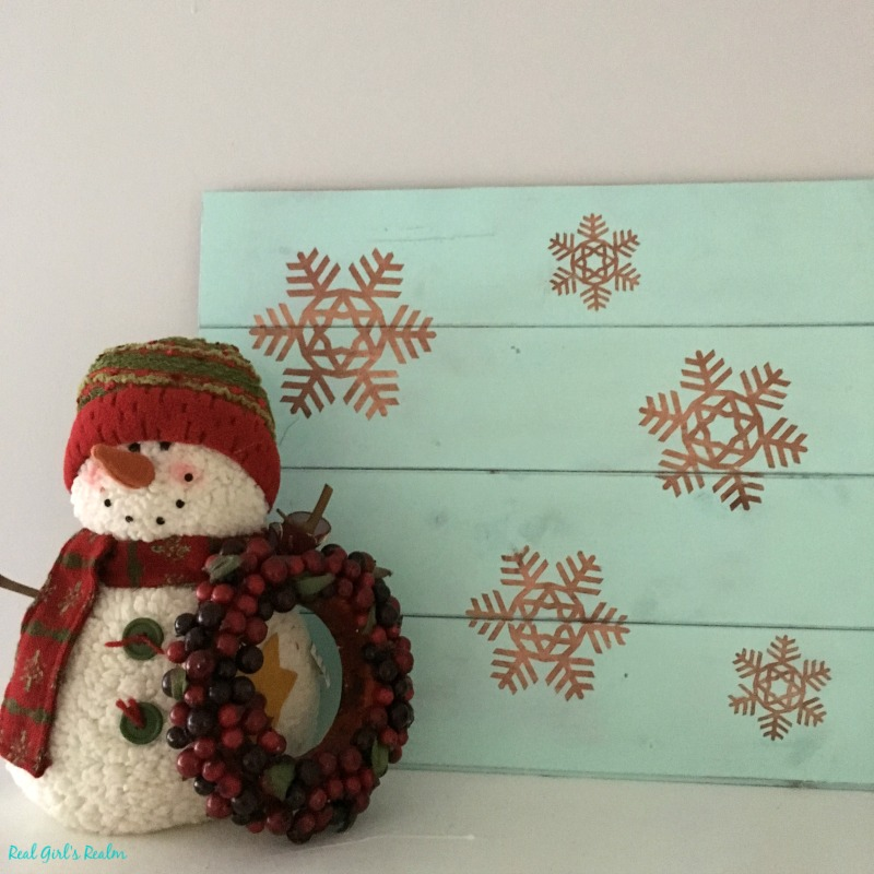 Real girl 39 s realm rustic wooden snowflake sign - How to make a snowman out of wood planks ...