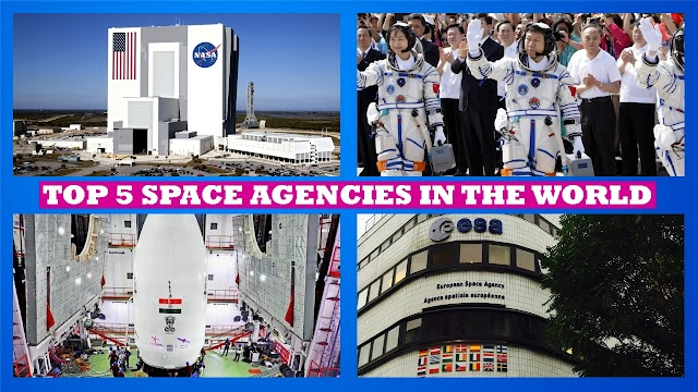 Top 5 Space Agencies in the World, 5 Most Successful Space Agencies, Top 5 Space Research Organization in the World
