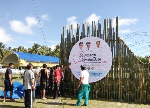 1 Hari Lagi Pembukaan Pameran Pendidikan 2017, Di Lapangan Bontosikuyu