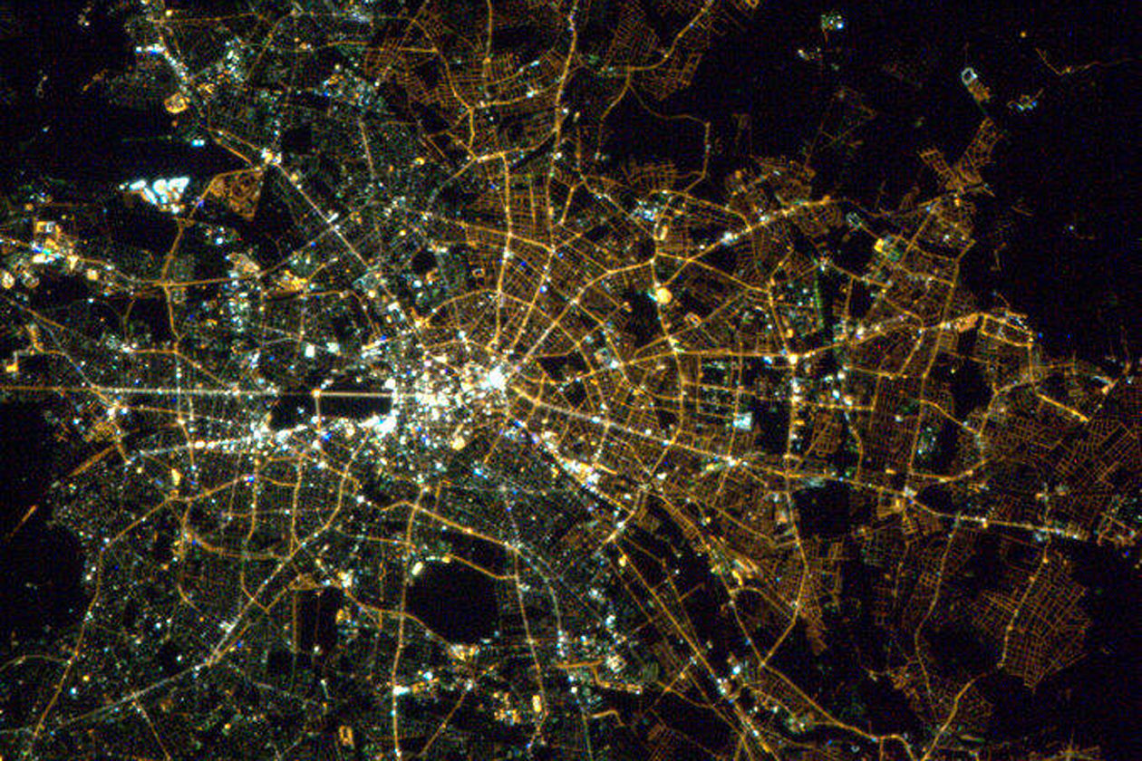 You can see Berlin's east-west divide from space