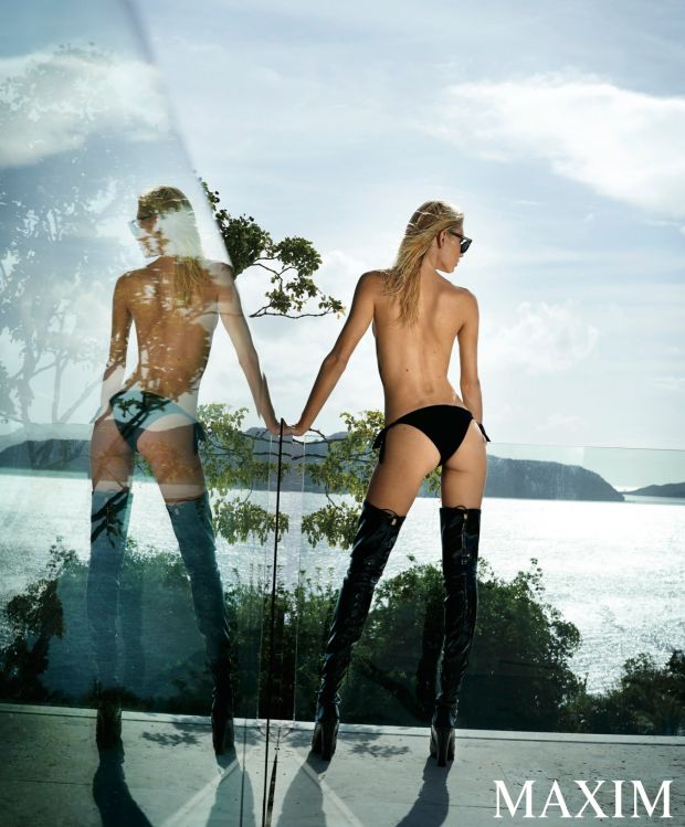 Aline Weber strips bare for provocative Maxim shoot