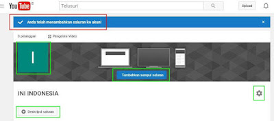 Cara Menambah Chanel / saluran di Youtube