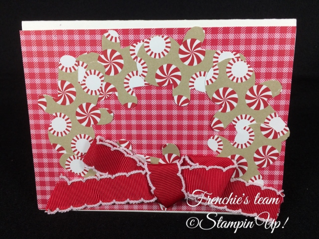 Quilted Christmas Designer paper, Stampin'Up!, Frenchie' Team