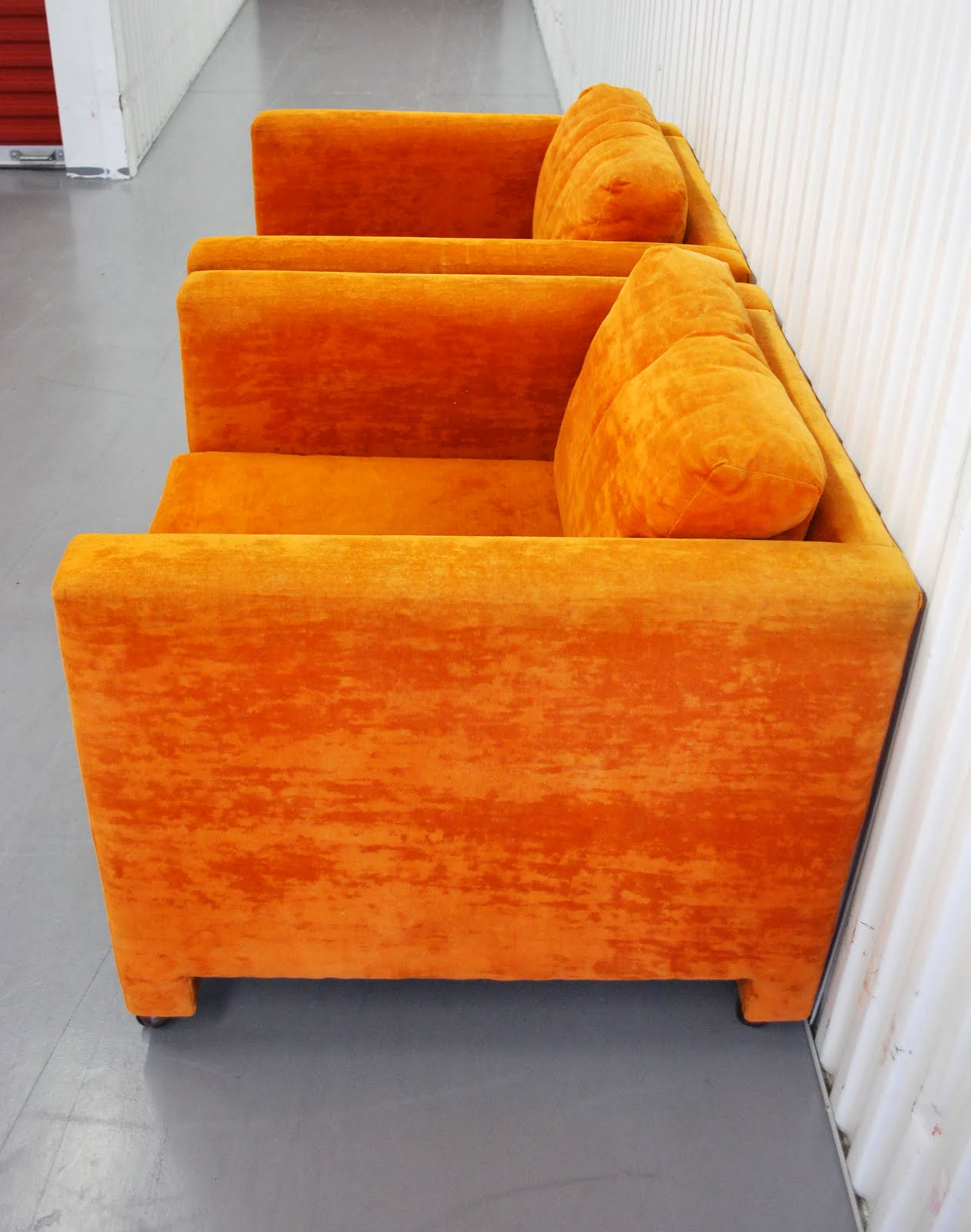 Modern Orange Chair Plastic Chairs Covers Junk2funk Mid Century Club