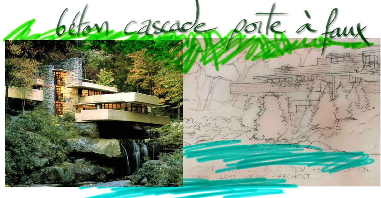 Gilbr arts maison cascade wright for Maison cascade