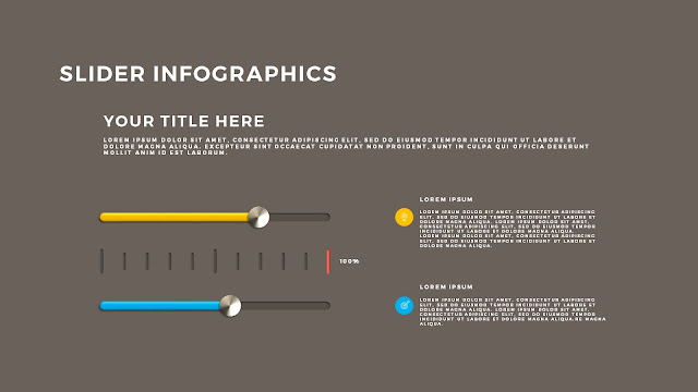 Free PowerPoint Template with Slider Infographics Slide 5