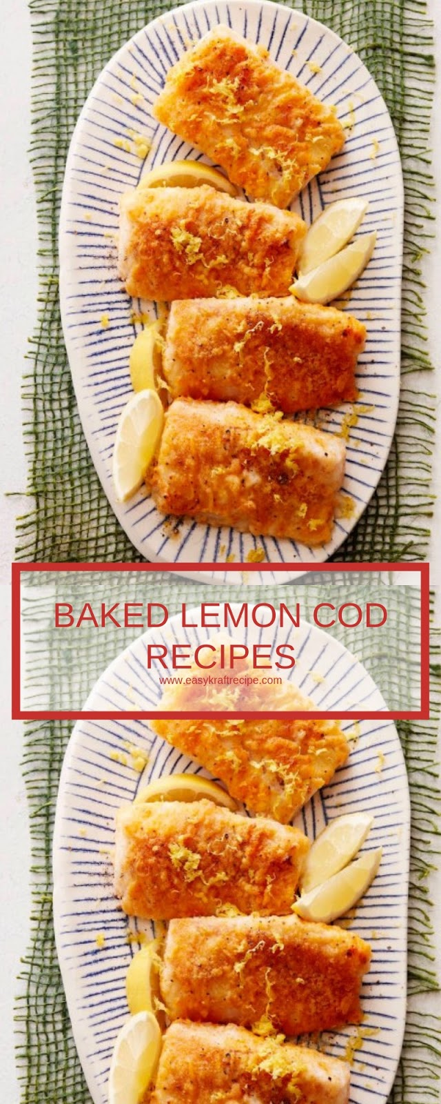 BAKED LEMON COD RECIPES