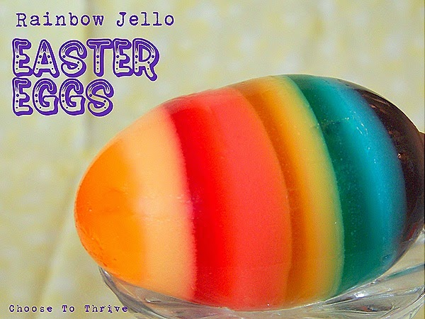 Rainbow Jello Easter Eggs by Thrive