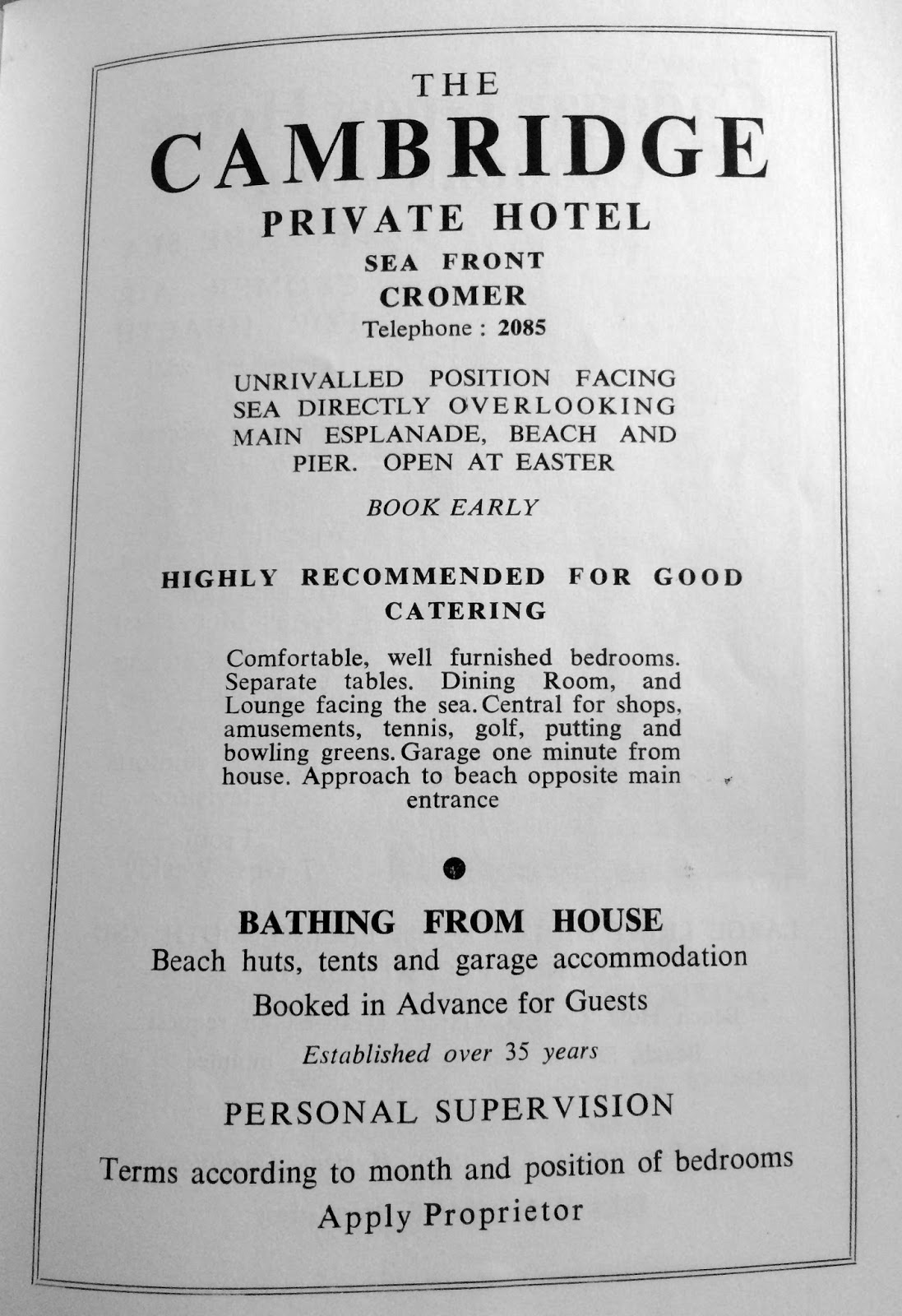 DrMattKerry's Blog: Cromer Official Guide, 1965 (Part 3)