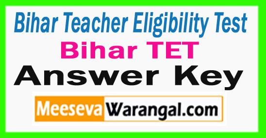 Bihar TET Answer Key 2017 Download