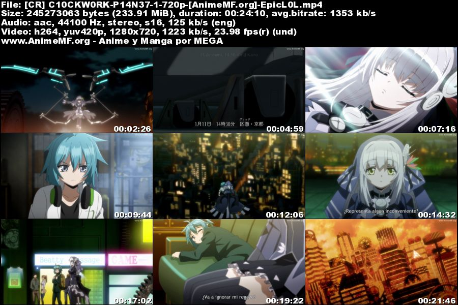 Vista previa de Clockwork Planet 01 HD Sub Español MEGA