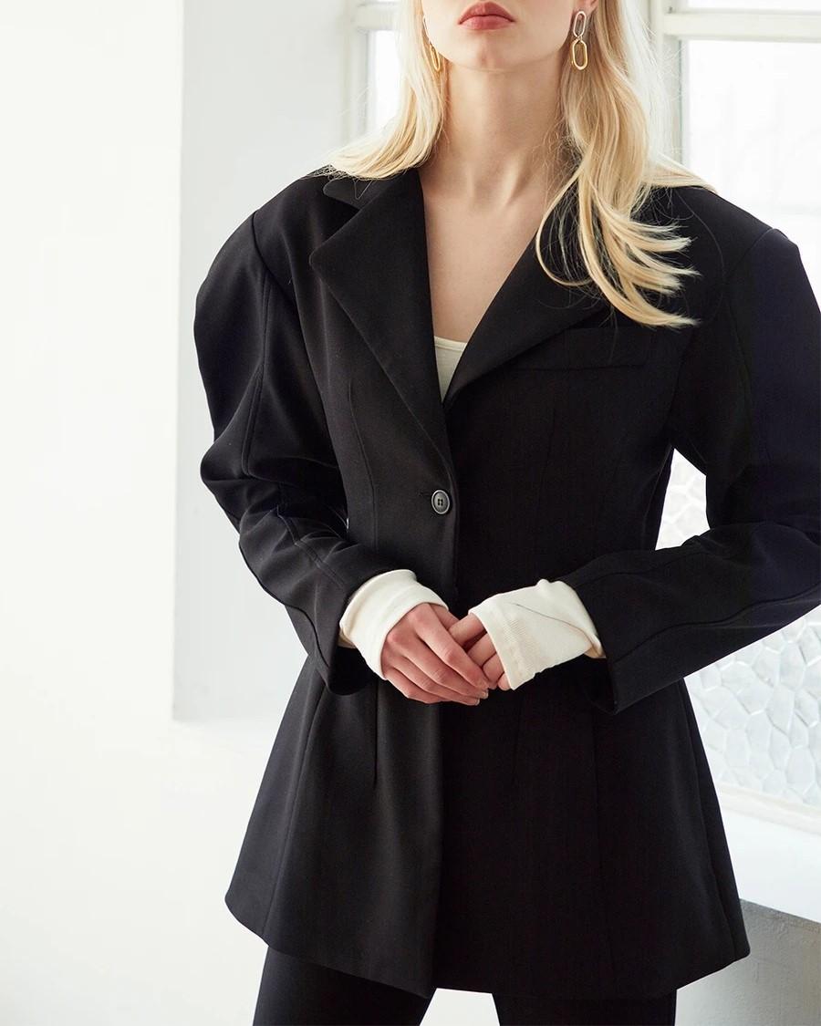 ariel structured pintuck jacket