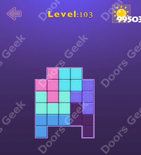 Cheats, Solutions, Walkthrough for Move Blocks Easy Level 103
