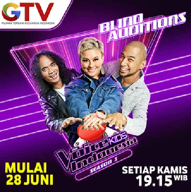 Sukses mencetak talenta-talenta muda berbakat lewat ajang talent search anak terbaik di Indonesia, kini GTV dengan bangga kembali menggelar The Voice Kids Indonesia season 3 dengan formasi coaches terbaru.