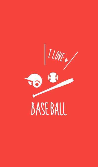 I love baseball.Red Theme WV