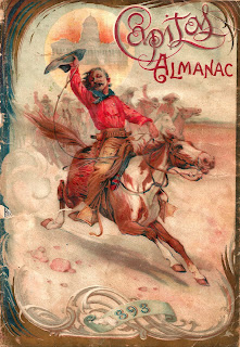 background antique almanac cowboy western image digital