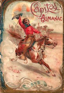 background antique almanac cowboy western image digital