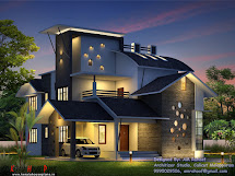 Kerala Contemporary Style Double Floor Home Design With