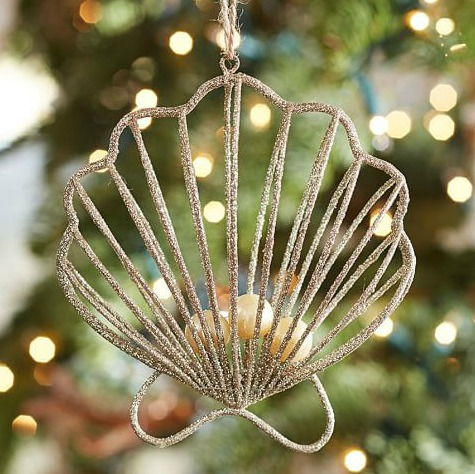Gold Wire Shell Ornament
