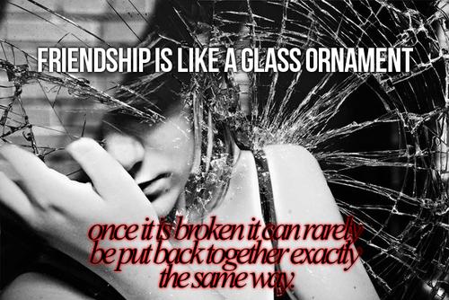 Zerbrochene Freundschaft