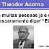 Theodor Adorno - Questões de Vestibulares