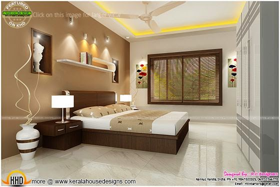 Bedroom interior design with cost kerala home design and floor plans for Interior designs for bedrooms indian style