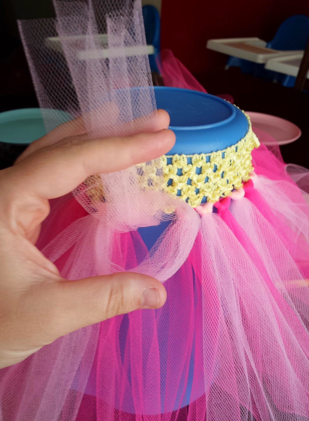 Triplets Toddler Diy Tutus And High Chair Skirts