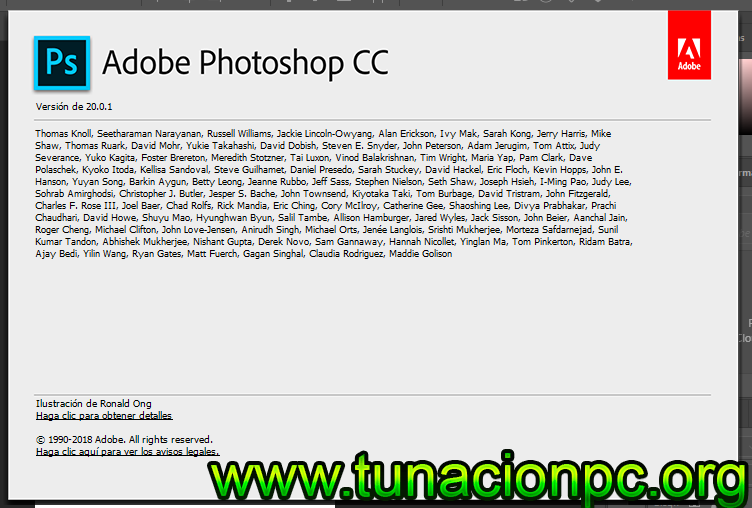 Descargar Adobe Photoshop CC 2019 Multilenguaje